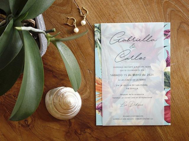 Comotinta: invitaciones de boda de diseño actual