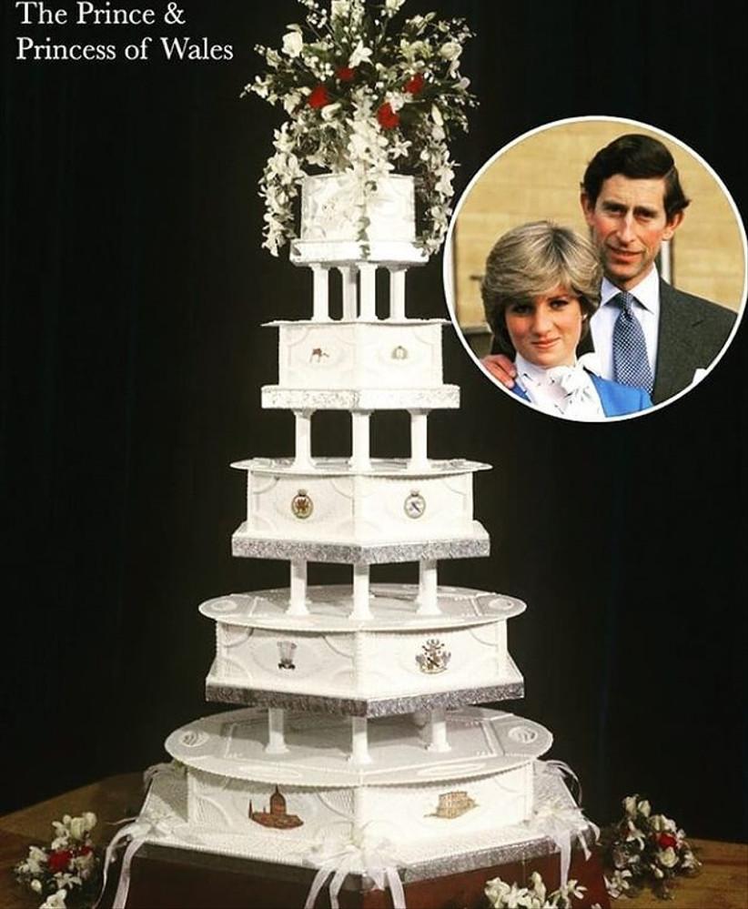 tarta de boda Carlos y Diana