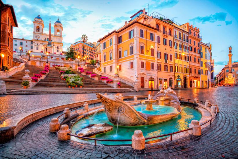 La escalinata de la Plaza de España de Roma