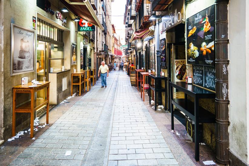 Escapada romántica a la Rioja antes de la boda: calle Laurel, Logroño