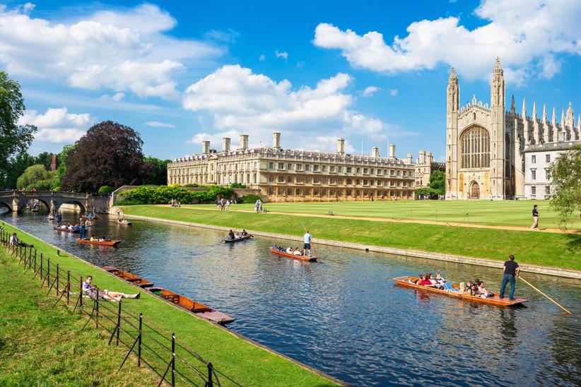 Cambridge en el sur de Inglaterra