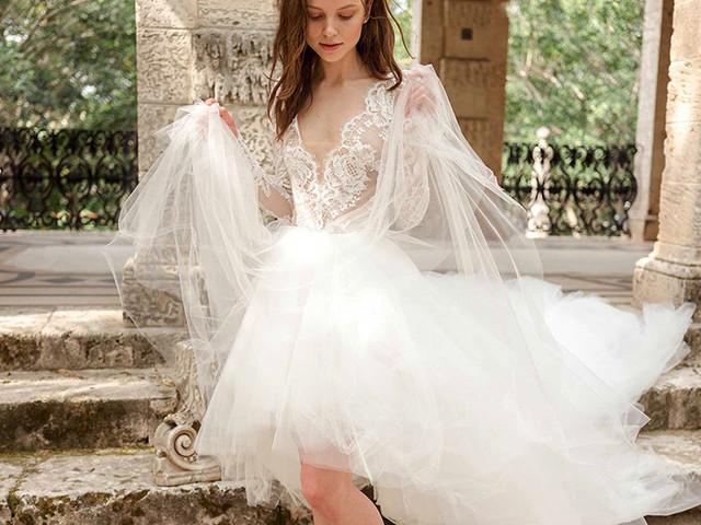 18c1c69f2 Vestidos de novia cortos  40 modelos irresistibles