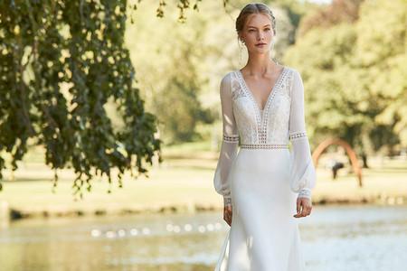 Vestidos de novia Alma Novia 2021: ¡un auténtico flechazo 'boho'!