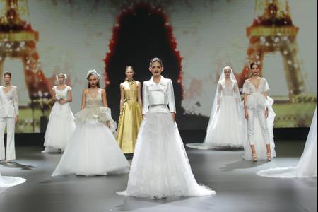 El encaje de Calais, protagonista de los vestidos de novia 2021 de Cymbeline