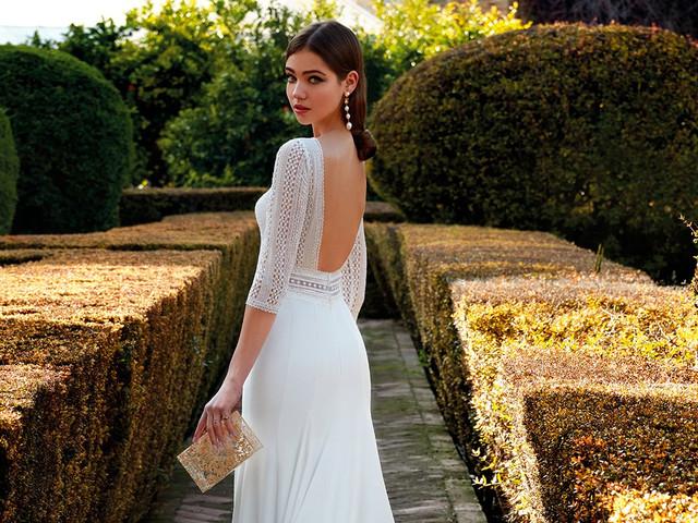 55 (increíbles) vestidos de novia con escote en la espalda. ¡Los querrás todos!
