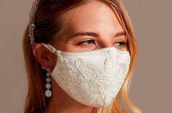 """Bodas de la """"nueva normalidad"""": 27 mascarillas de novia en todos los estilos"""