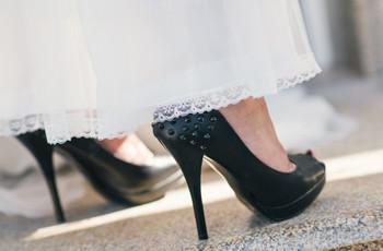 Look de novia con toques negros: ¡atrévete a innovar!