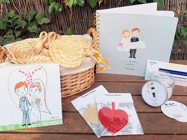 Descubrid los productos de boda solidarios de Fundación Aladina
