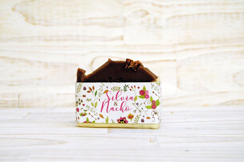 Jabón con chocolate, ideal como detalle de boda