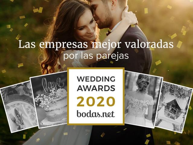 Descubrid a los ganadores de los Wedding Awards 2020 de Bodas.net
