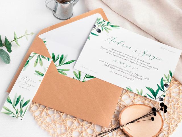 Estas son las 30 invitaciones de boda más bonitas... ¡en un color 'eco-friendly'!