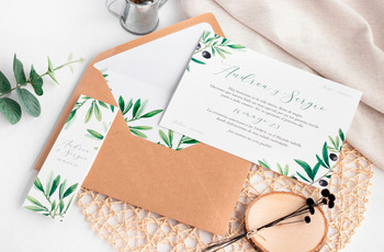 Estas son las 30 invitaciones de boda más bonitas... ¡en un color 'eco-friendly'!
