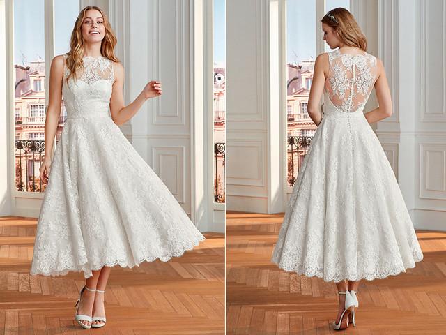 50 vestidos 'midi': ¡sí a las novias diferentes!