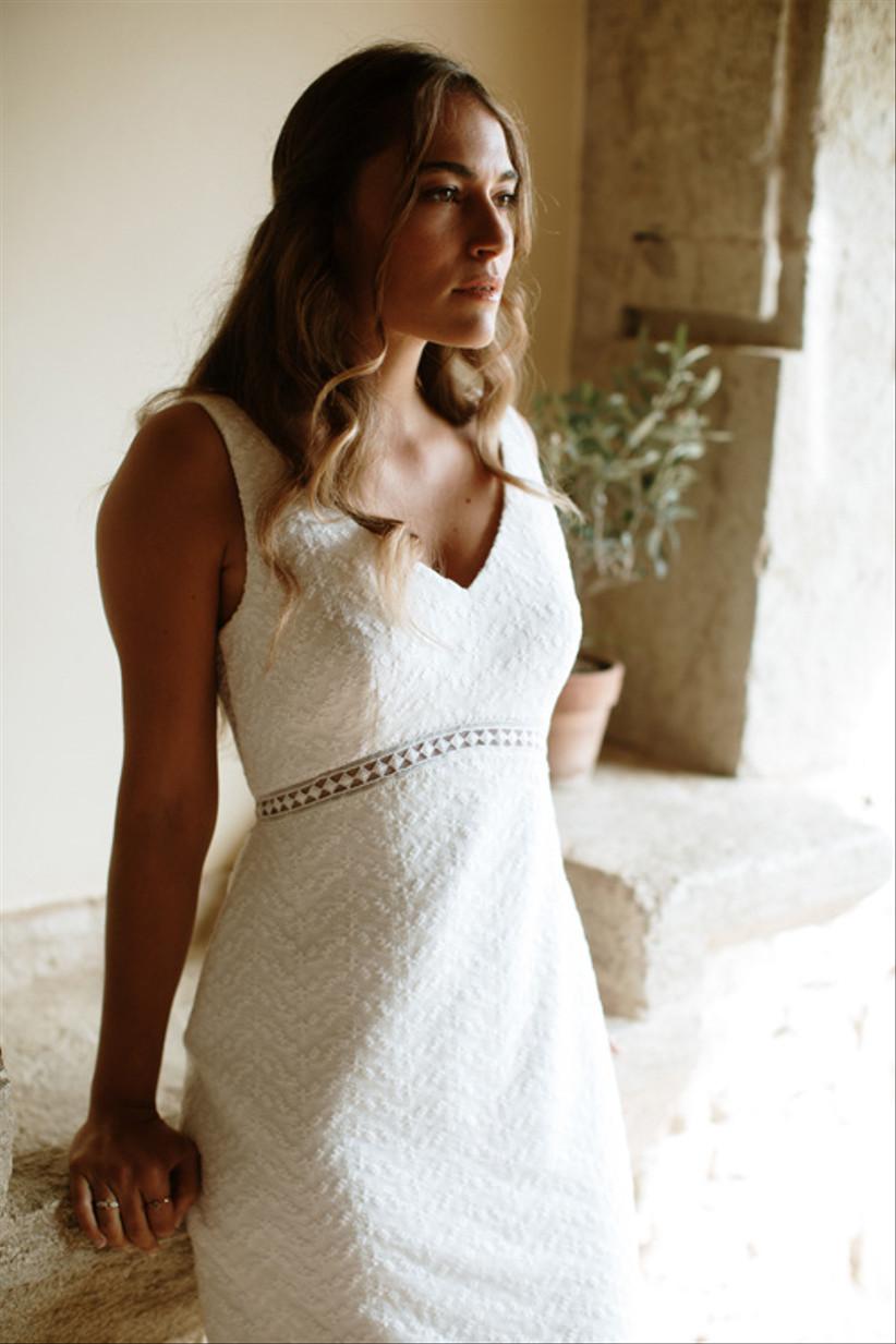 Vestido de novia imperio de la colección Blooming Light de L'Avetis 2021