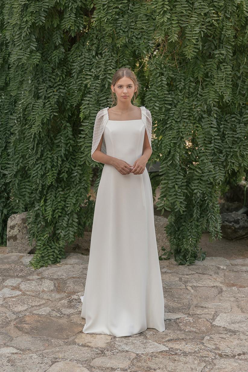 Vestido de novia de la colección 2021 de María Baraza, perfecto para el día de la boda