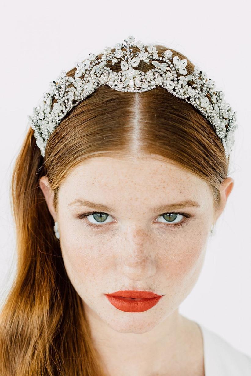 Tiara brillante de Maria Elena Headpieces