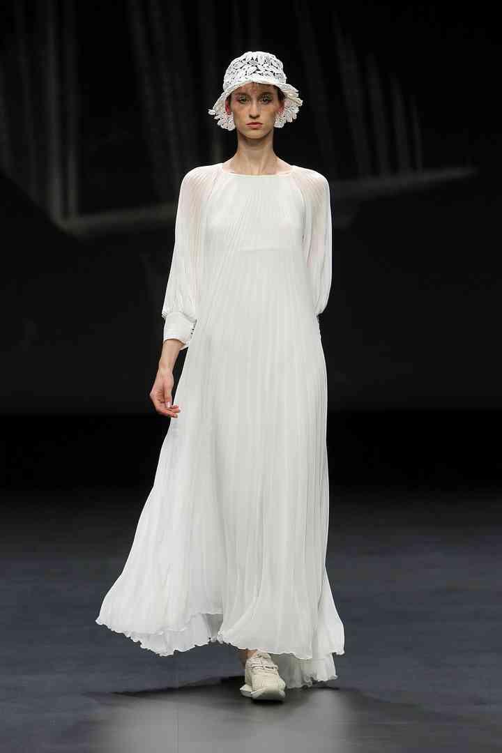 Vestido de novia sencillo de manga larga Yolancris