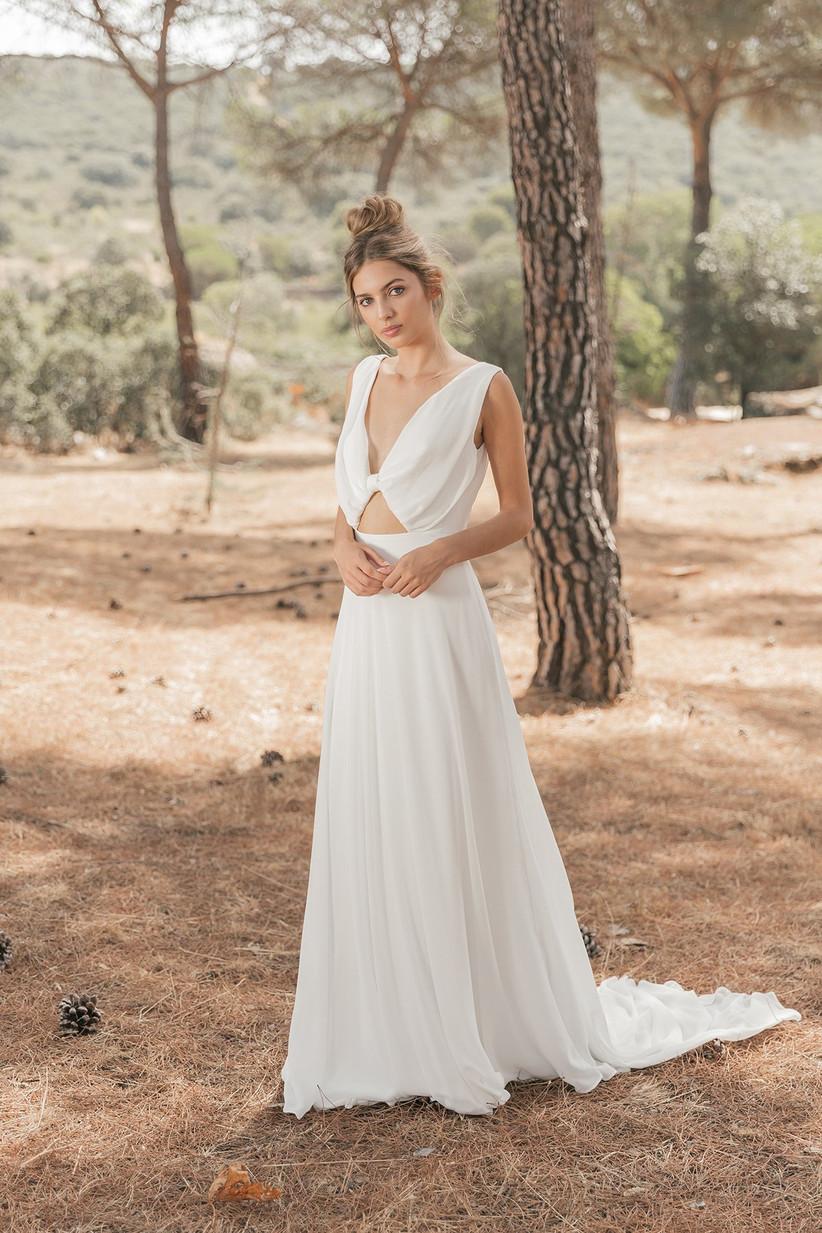 Vestido de novia convertible de la colección Crush de María Baraza 2021, perfecto para el día de la boda