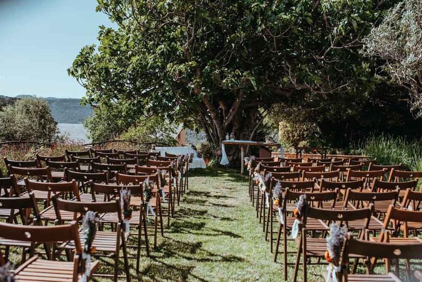 Todo a punto el día de la boda para celebrar la ceremonia civil