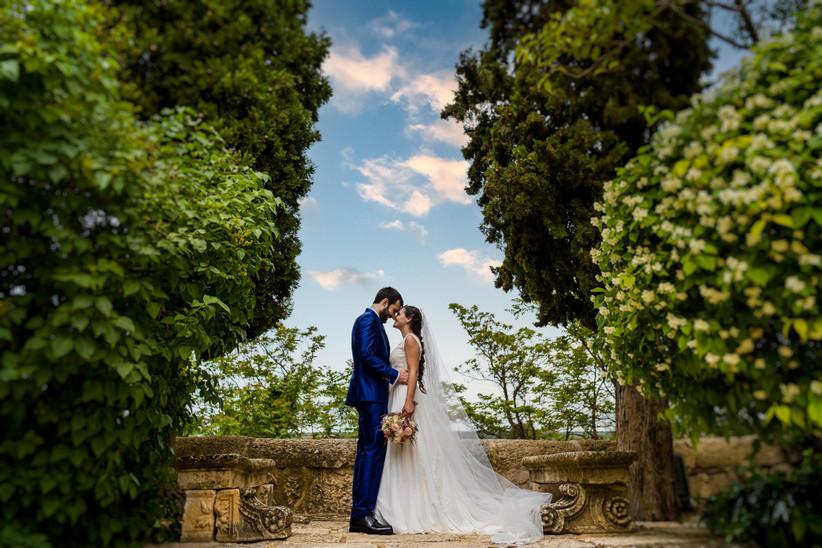 Sesión de fotos en pareja el día de la boda