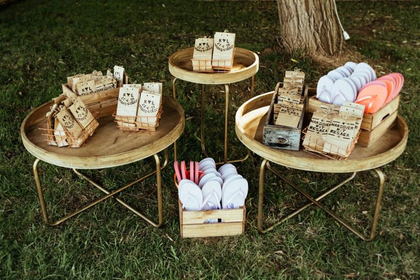Detalles de boda: chanclas