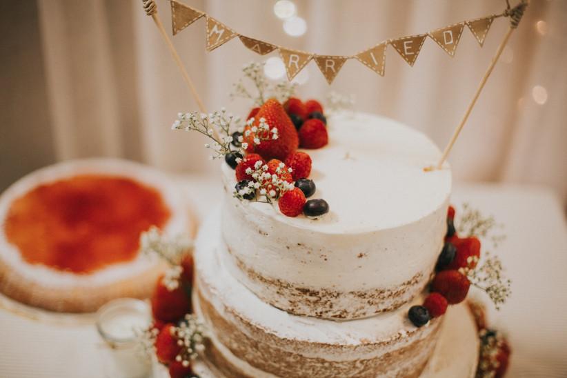 Prueba del menú: tarta de boda
