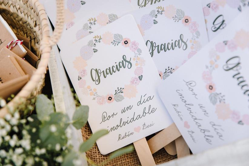 Paipáis personalizados como detalles de boda