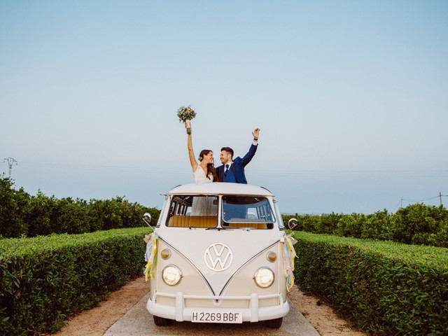 30 ideas originales para decorar el coche de boda