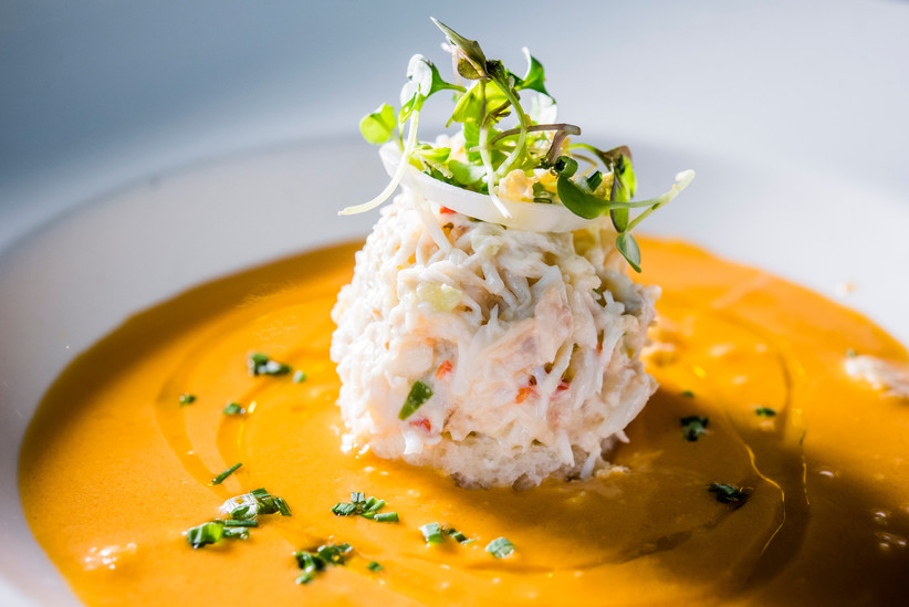 Gazpacho con marisco, un plato perfecto para bodas de verano