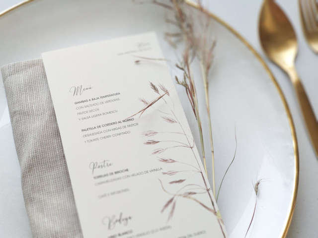 Minutas de boda originales: 8 propuestas fantásticas