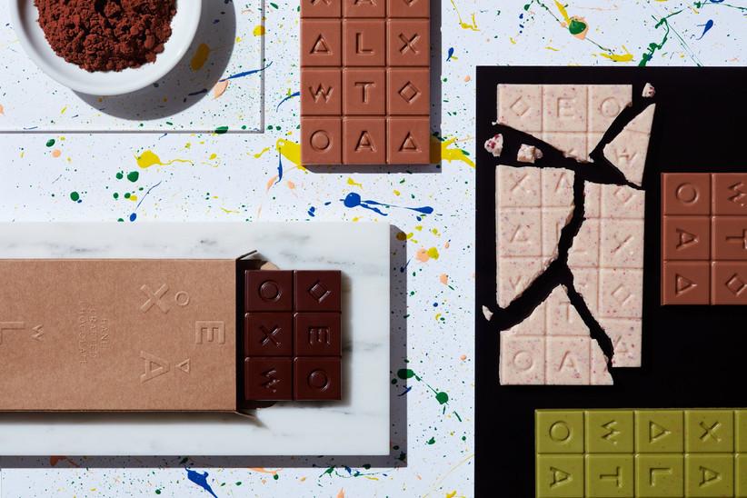 Originales tabletas de chocolate como detalle de boda
