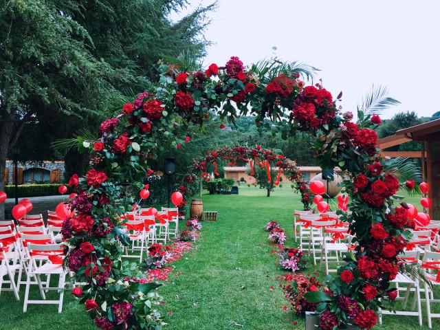 Todo al rojo: decoración para la boda