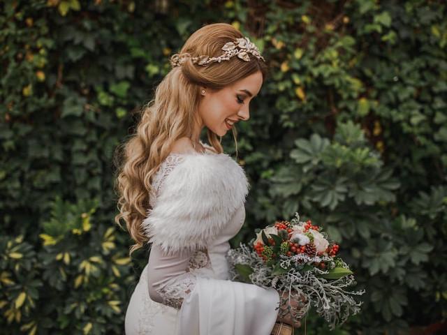 Peinados para novias de invierno