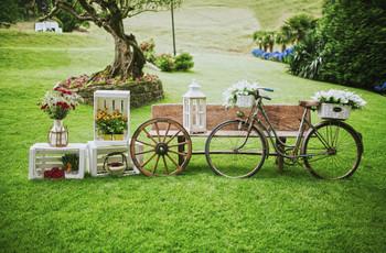 Bicicletas: las nuevas protagonistas decorativas de las bodas