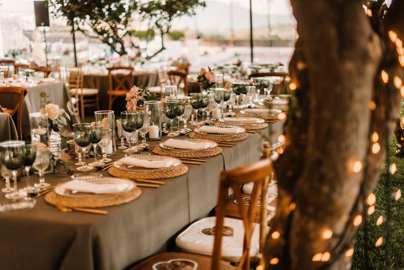 Banquete de boda al aire libre