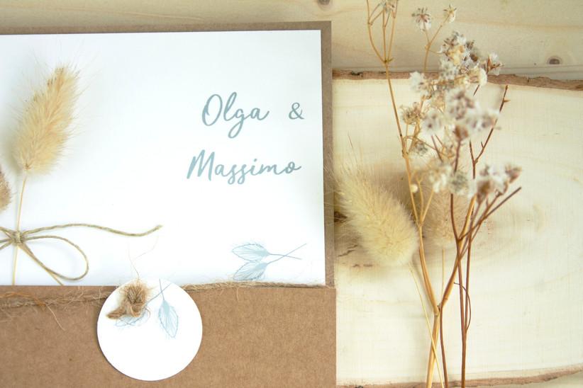 Invitación de boda de aire rústico