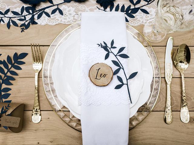 10 estilos de servilleteros personalizados para bodas
