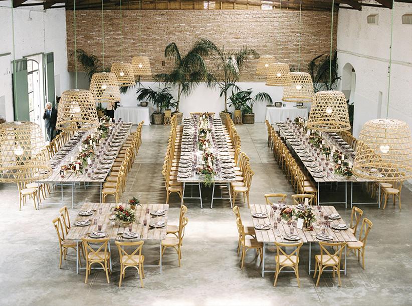 Banquete de boda en interior