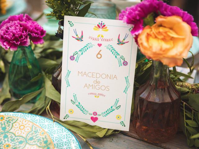 Nombres para mesas de boda: 10 ideas originales