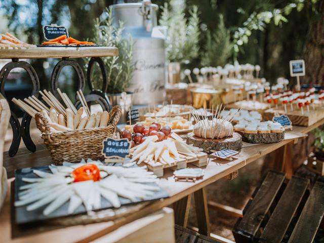 Claves para un perfecto banquete de boda tipo bufet