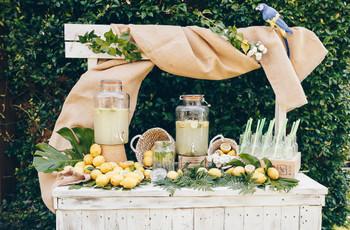 Barra libre de limonada para boda: fácil, deliciosa... ¡y refrescante!