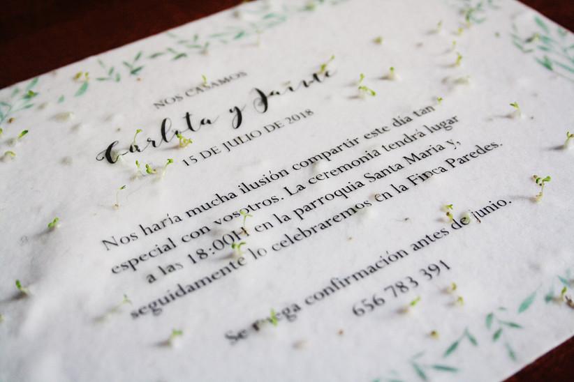 61daf8a411 Invitaciones para una boda de primavera