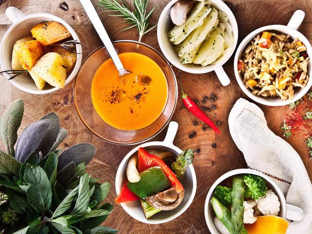 Menús veganos para el banquete nupcial... ¡deliciosos!