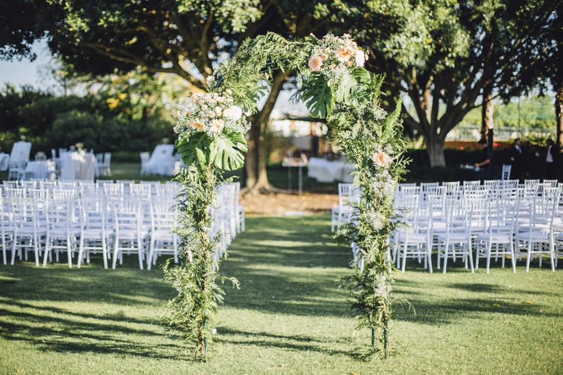 arco ceremonia civil con flores