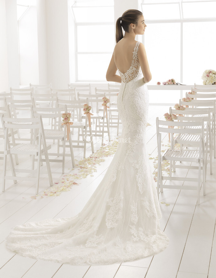 vestido de novia de aire barcelona - cabriole