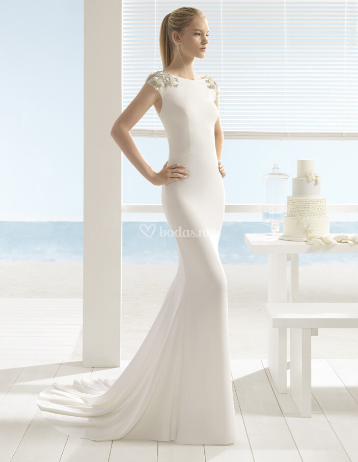vestido de novia de aire barcelona - ulsen