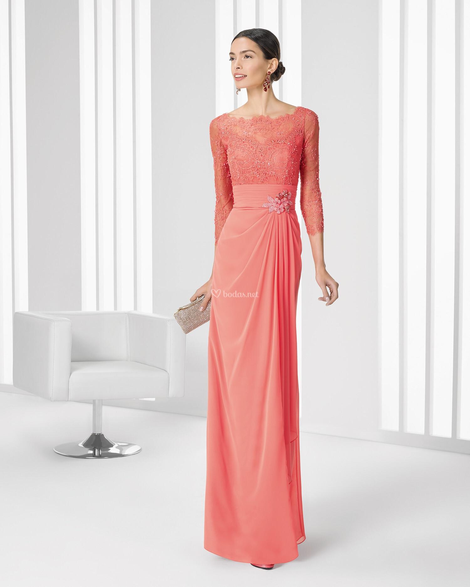 vestidos fiesta rosa clara