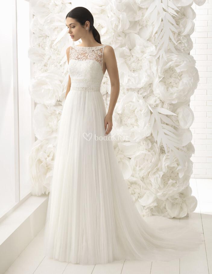 vestido de novia de rosa clará - lisbeth