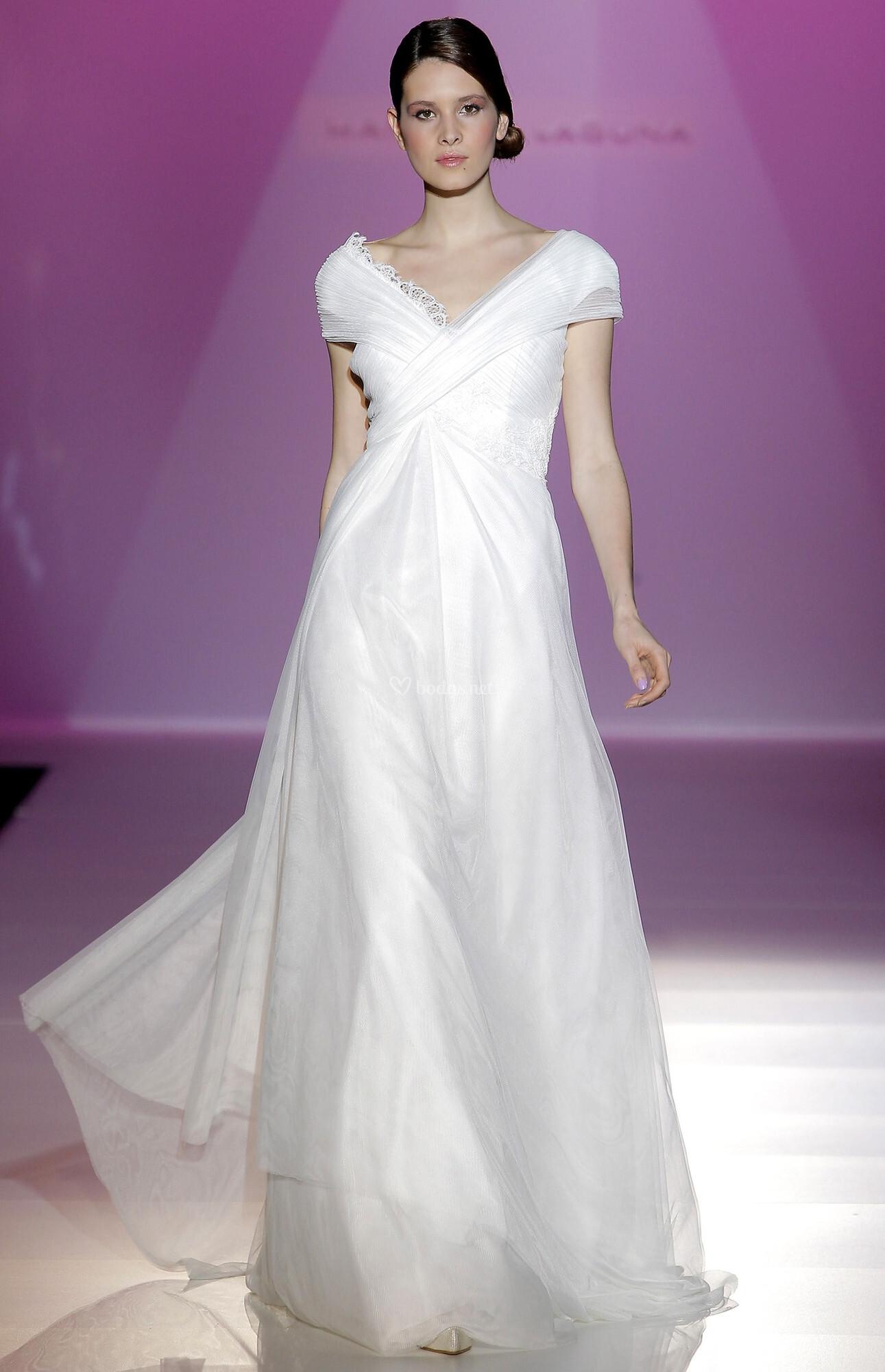 Magnífico Vestido De Novia Saco De Yute Foto - Vestido de Novia Para ...
