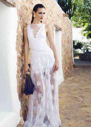 vestido escote pico, Charo Ruiz